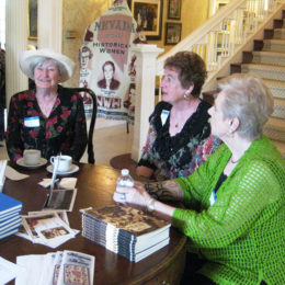 Kathy Noneman, Marcia Cuccaro and Nell Fozard – Pink Tea 2013