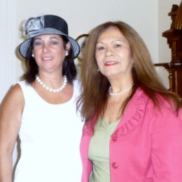 Mercedes Burkavage and Sylvia Ontandea-Bernales – Pink Tea 2012