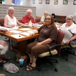 Indexing Files at the Nevada State Library – Kathy Noneman, Christianne Hamel, Jon Hamel, Jacki Falkenroth, Marcia Cuccaro, Charlene Sprague and Mona Reno