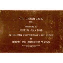 1981 Jean Ford – American Civil Liberties Union of Nevada