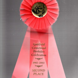 2002 Goldfield Centennial Celebration- 2nd Place