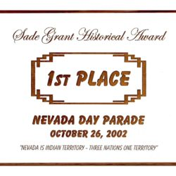 2002 Nevada Day Parade – 1st Place
